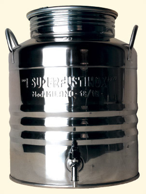stainless steel barrel 30 l + tap (724)
