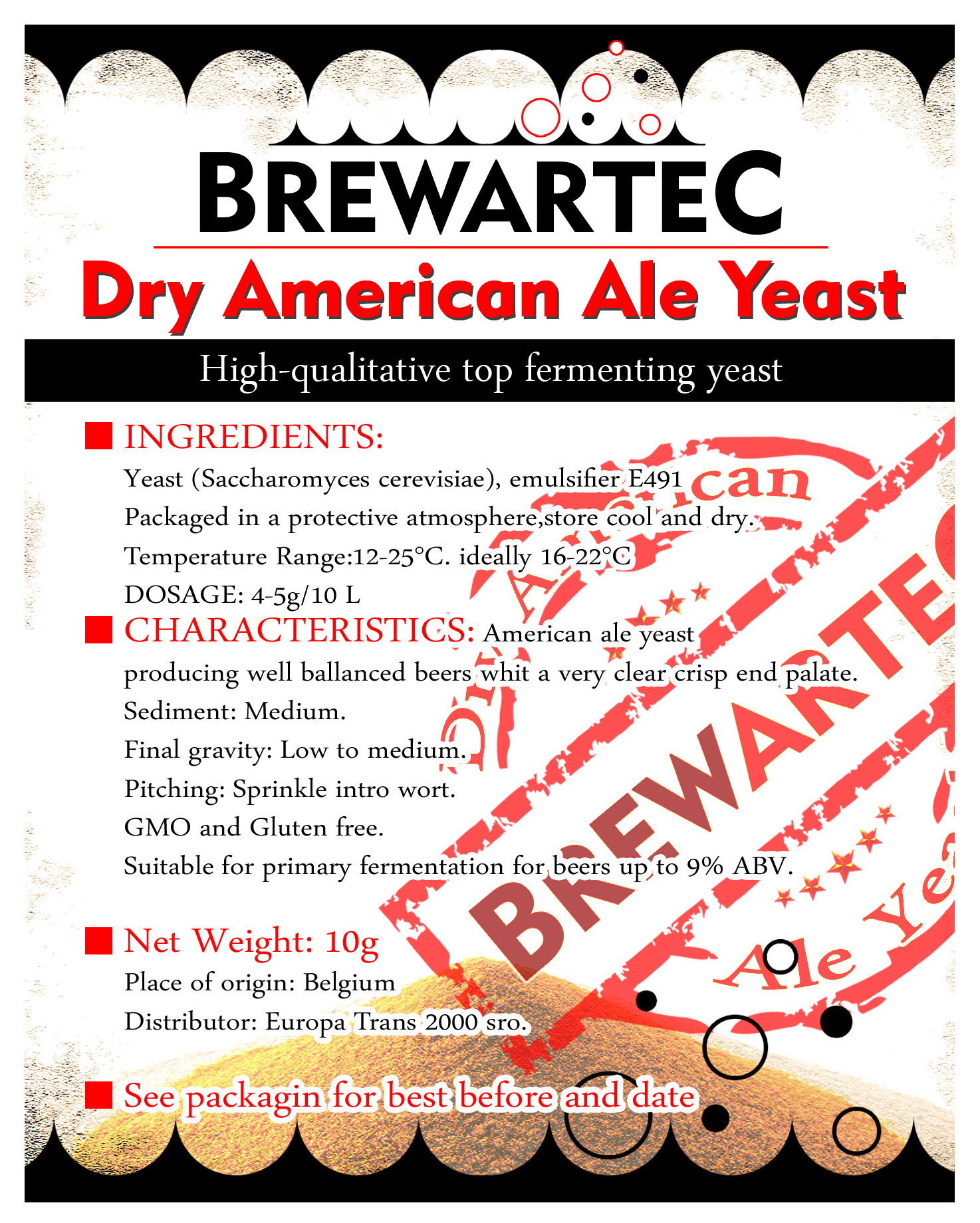 dried brewing yeast American Ale 10 gr (1094)