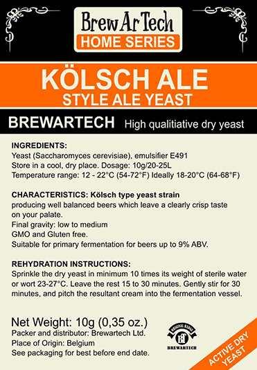 Brewartech Kölsch Ale sörélesztő 100g  (2383)