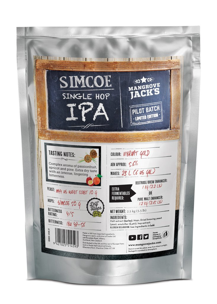 Mangrove Jack's Single Hopped IPA SIMCOE - 2.5kg (1184)